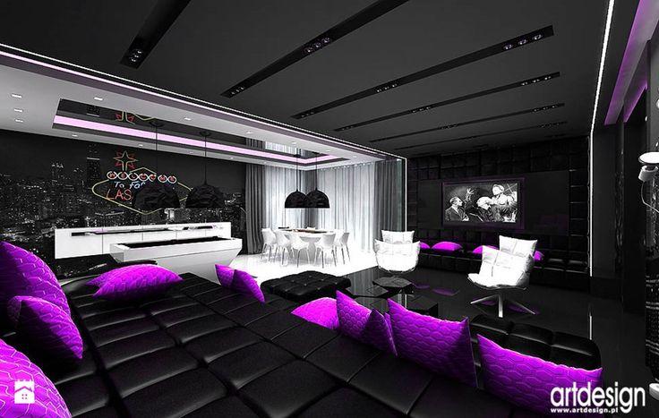 kino domowe, bilard - luksusowe wnętrza rezydencji - zdjęcie od ARTDESIGN architektura wnętrz