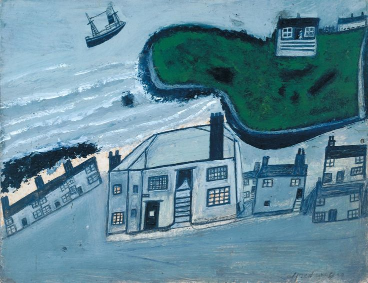 ''The Hold House Port Mear Square Island Port Mear Beach'', Alfred Wallis, ?c.1932 | Tate