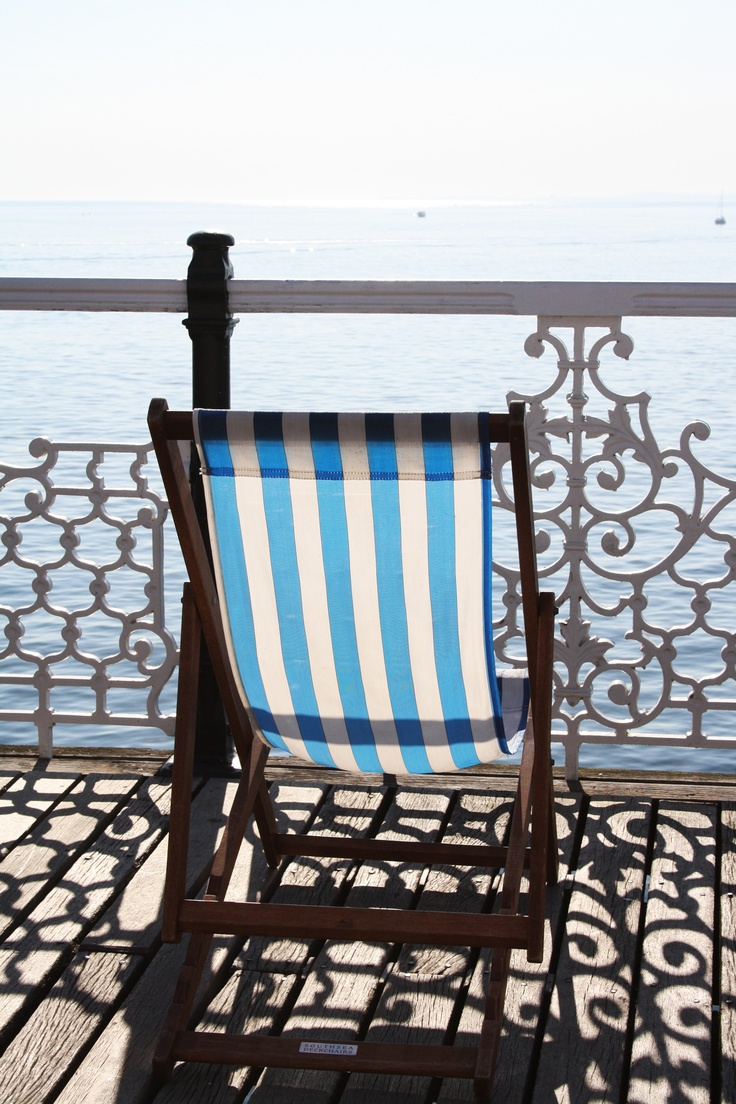 Deck chairs on Brighton Pier