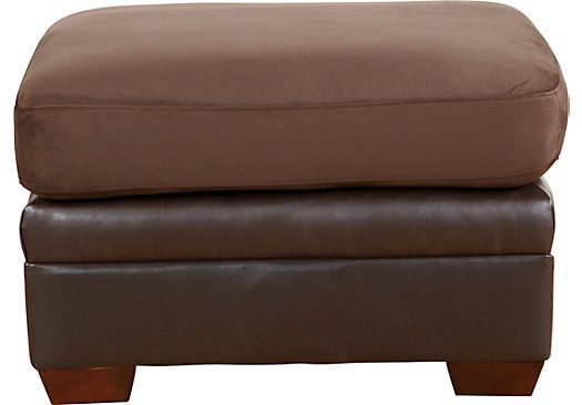 Shop For A Hollis Chocolate Ottoman At Rooms To Go Find