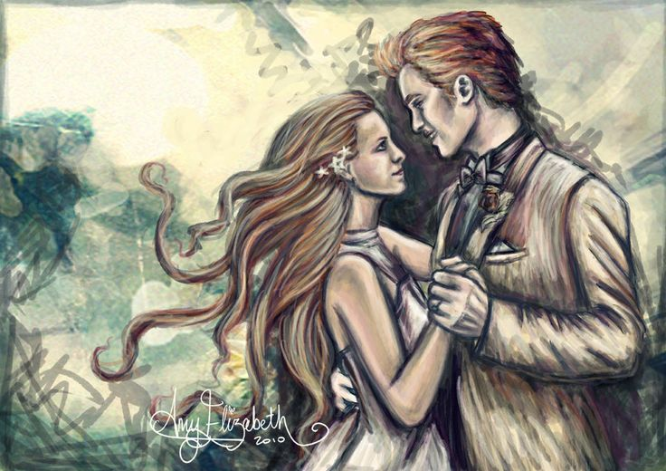 Edward and Bella. Photoshop CS5, Wacom Intuos 3 Around 2 hours.