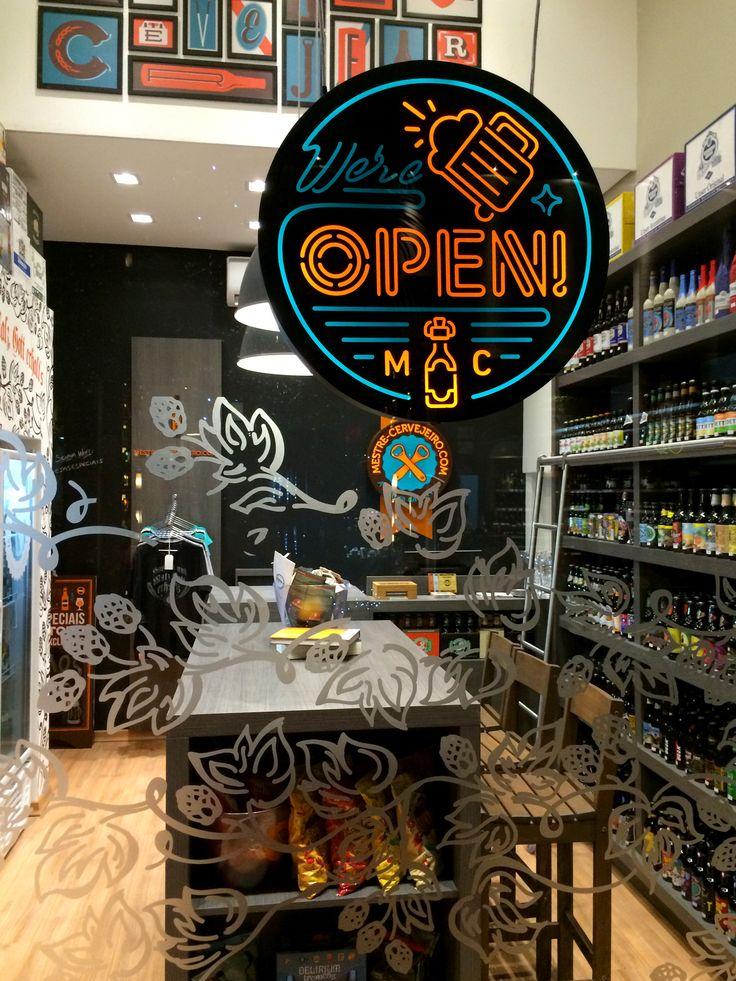 Adesivo Para Janela De Vidro Jateado ~ Loja Mestre Cervejeiro com Uberl u00e2ndia #franquia #loja #cerveja #artesanal #craft #beer #store