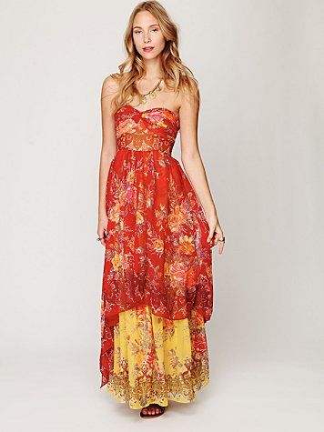 Reminds me of the dress Kate Hudson wore to the Oscars... or one of those shows many years ago. I want!: Maxi Dresses, Summer Dress, Freepeople Com, Clothes, Enchantment Dress, Free People, Indian Enchantment, Dress Freepeople