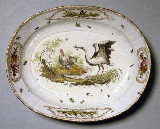 Dish; porcelain Royal Copenhagen Porcelain Manufactory, 1781