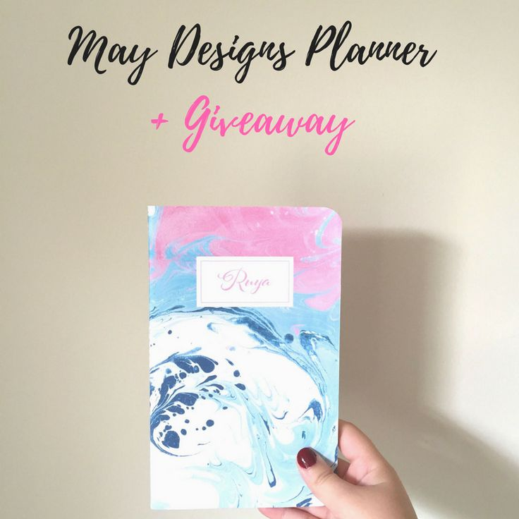 """It's almost time to go back to college and what better way to get organized than with a new planner? That's why I'm hosting a giveaway with May Designs for a custom planner of your choice! Head over to my latest blog post to see how you can win! (Ends on August 19th!). Also use my code """"SWEETSHORTSTYLISH"""" for 25% off a full price purchase on the May Designs website!"""