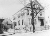 Lizzie Borden house, Fall River, MA.  Where the infamous Lizzie Borden was tried for the gruesome murders of her father & stepmother in 1892.  She was acquitted, but there were never any other suspects, so to this day, the crime officially remains unsolved.