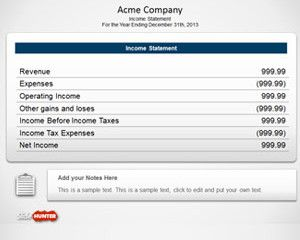 Free Income Statement PowerPoint Template