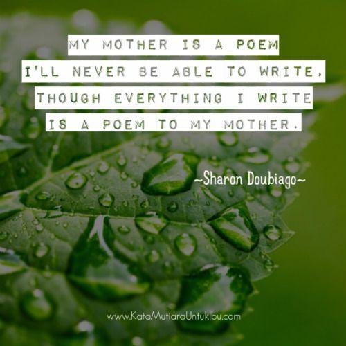 kata mutiara puisi untuk ibu