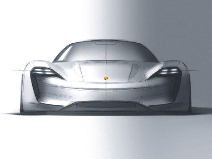 Porsche Mission E Concept Design Sketch