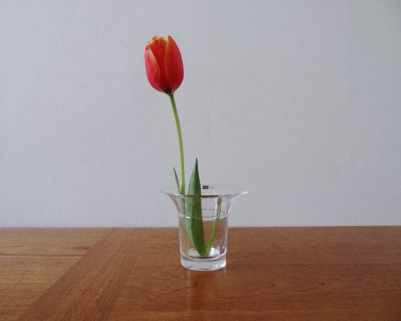 Arabia Finland Finn Crystal Vase by modernplayground on Etsy