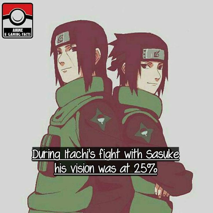 Itachi Flighted Sasuke Almost Blind But Still The One