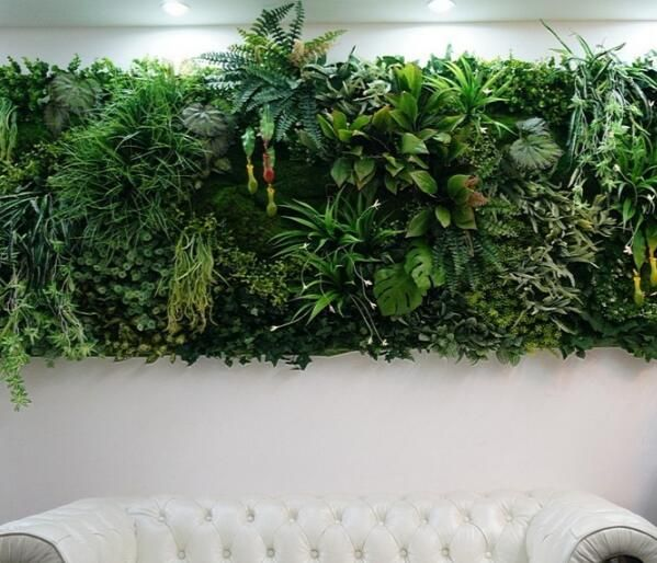 Artificial vertical garden for gorgeous interior wall design~Check more from http://www.fauxhedges.com/artificial-vertical-garden.html
