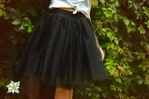 Black Tulle Skirt Women Tulle Skirt Woman Tutu Knee Skirt
