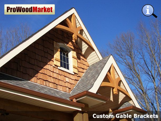 20 best gable and brackets images on pinterest exterior for Craftsman gable brackets