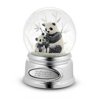 16 best snowglobe images on pinterest water balloons water personalized beaded panda snow globe gift by things remembered negle Choice Image
