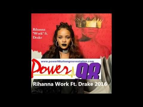 "Listen to Rihanna ""Work"" ft. Drake on Power 98 Urban Groove Station world premiere. https://youtu.be/8pgEoecAcY4"