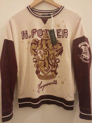 """23.99 - PRIMARK Harry Potter PJ sweater top Gryffindor crest PYJAMAS UK Sizes 6 - 20"