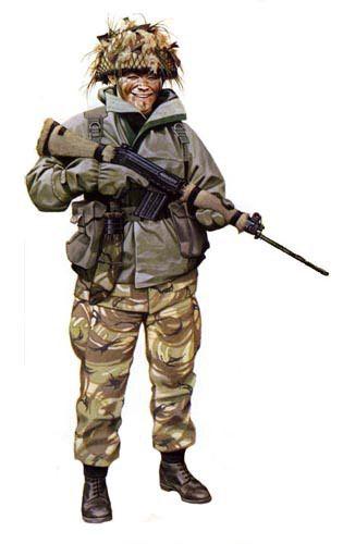 Soldado Gurka,7º de Gurcas,Islas Malvinas.1982