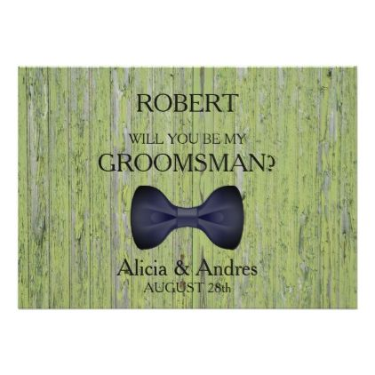 Wood Background Will you be my Groomsman? Card - wood wedding style nature diy customize personalize marriage