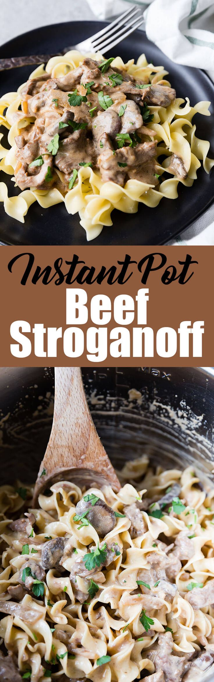 Creamy, tender, and ultimately flavorful Instant Pot Pressure Cooker Beef Stroganoff