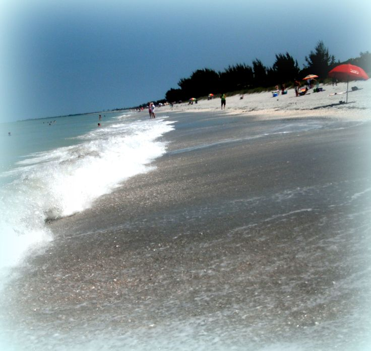 "Island Beach Scenes: Greeting Card: ""Beach Scene"" Sanibel Island, FL_ Card"