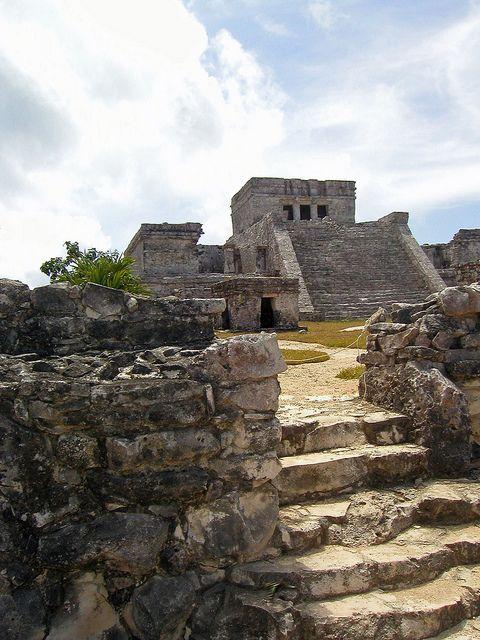Ruinas mayas en Tulum, Mexico