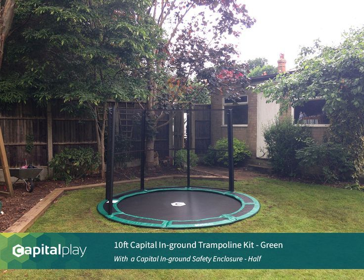 10ft Capital In Ground Trampolin Kit Www Capitalplay Co Uk In Ground Trampoli Bodentrampolin In Ground Trampoline In Ground Trampoline Kit Trampoline