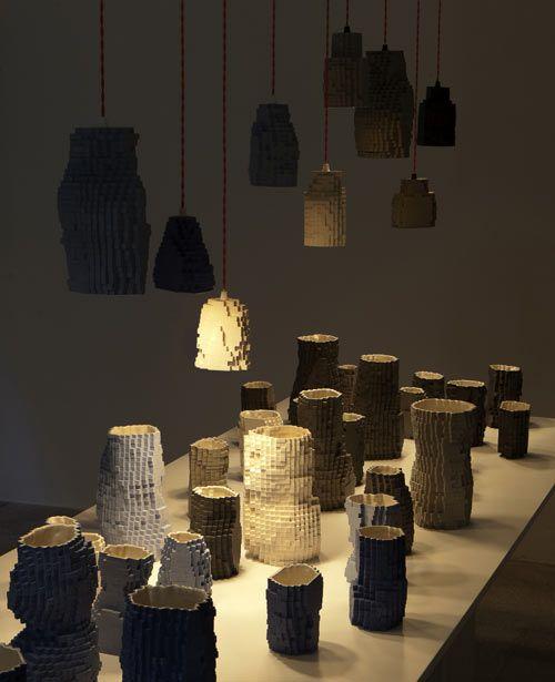 Pixel Vases Landscape by Julian F. Bond - via DesignMilk