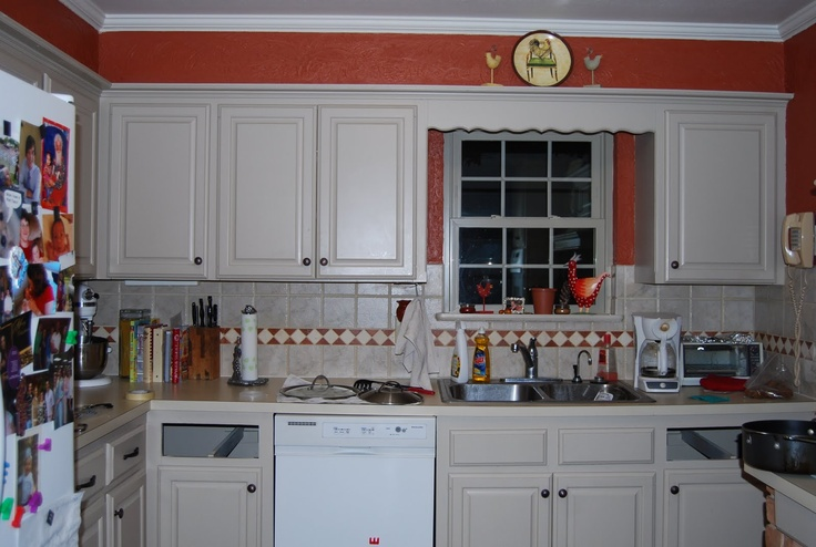 Burnt orange is the color i have decided on for the for Burnt orange kitchen cabinets