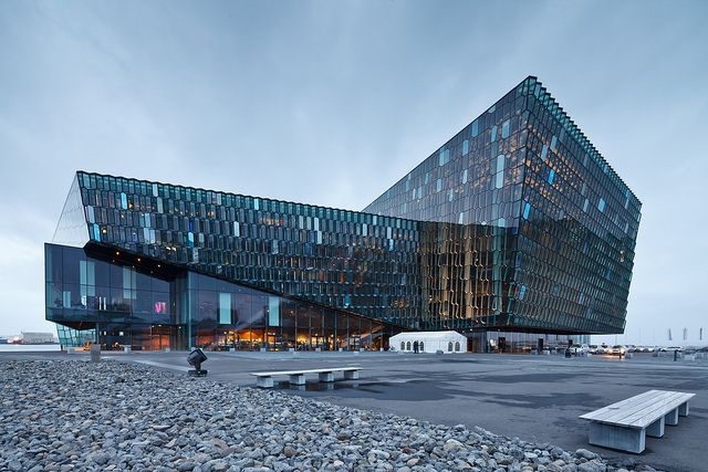 Harpa Concert Hall and Conference Center (2011) in Reykjavik, Iceland by Henning Larsen Architects, Batteríid Architects and Studio Olafur Eliasson, 2011, photographed by Pawel Paniczko.