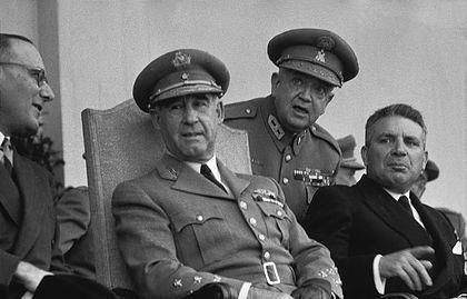 Marcelo Caetano e Craveiro Lopes 1955