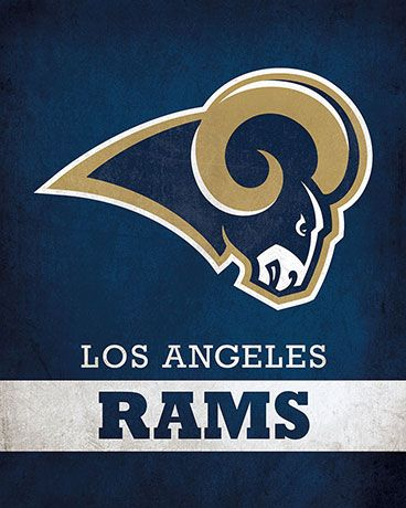 NFL - Los Angeles Rams Logo $24.99 Portray your pride for the Los Angeles Rams with this 16x20 Printed Canvas Logo from ScoreArt. This classic print is perfect for the enthusiast in your life.  #LosAngeles #LA #LosAngelsRams #Football #Sports #ScoreArt #NFL