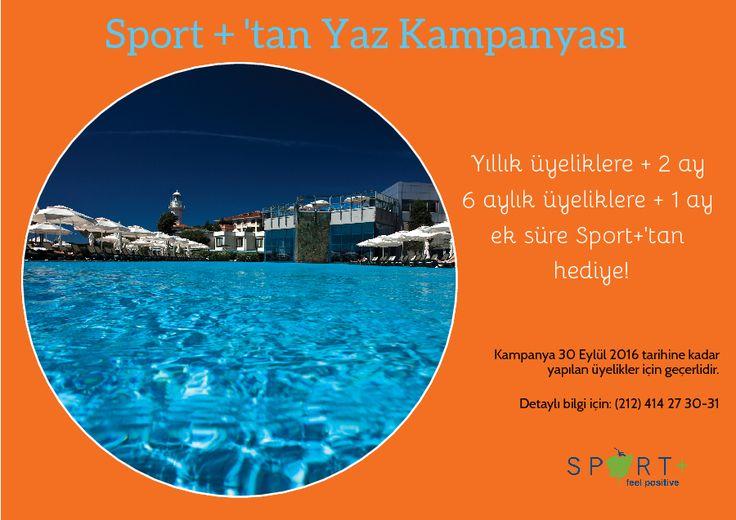 Sport +' tan Kaçırılmayacak Yaz Kampanyası! #spor #RenaissancePolat #havuz #fitness