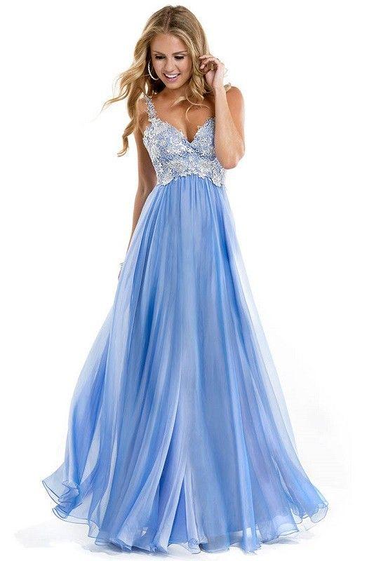 Wedgewood blue prom dress