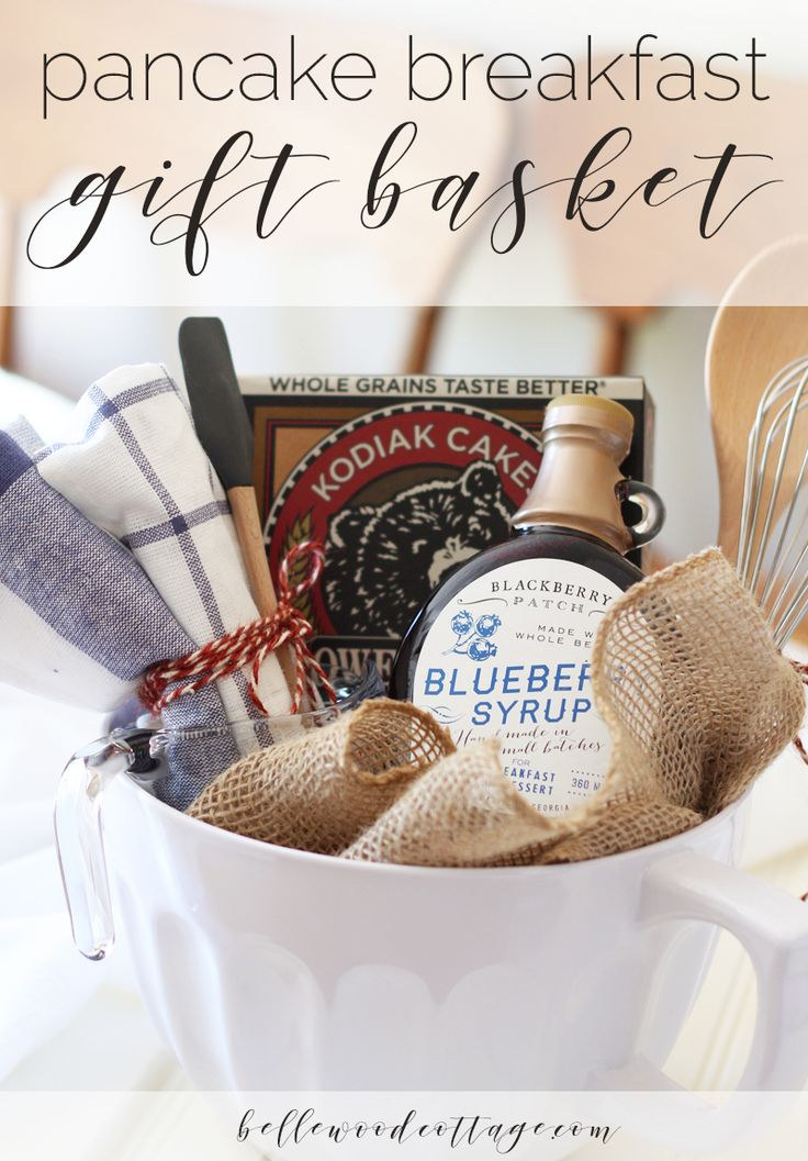 DIY Pancake Breakfast Gift Basket - Perfect for bridal showers or a housewarming gift! From Bellewood Cottage