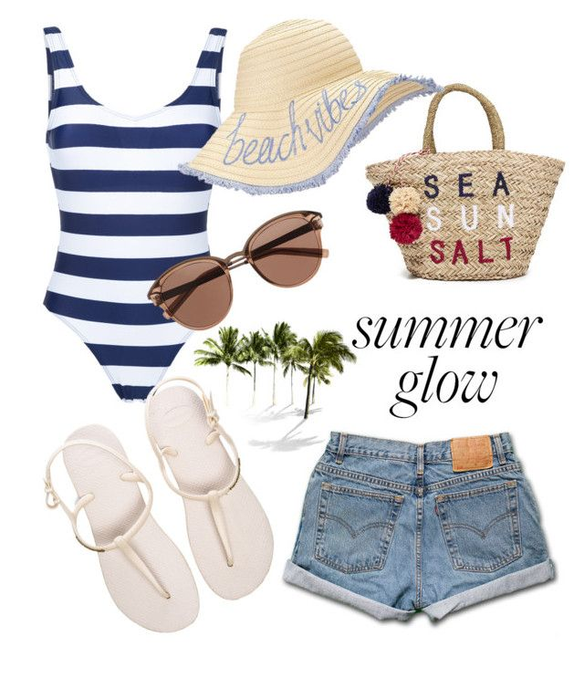 """Beach vibes"" by szlzsnb on Polyvore featuring Perfect Moment, Levi's, Havaianas, Sundry, Miss Selfridge and Witchery"