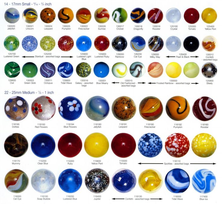 antique and vintage marbles | Machine Made Glass Marbles - 1980 to Current
