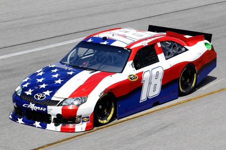 Kyle Busch's American flag car