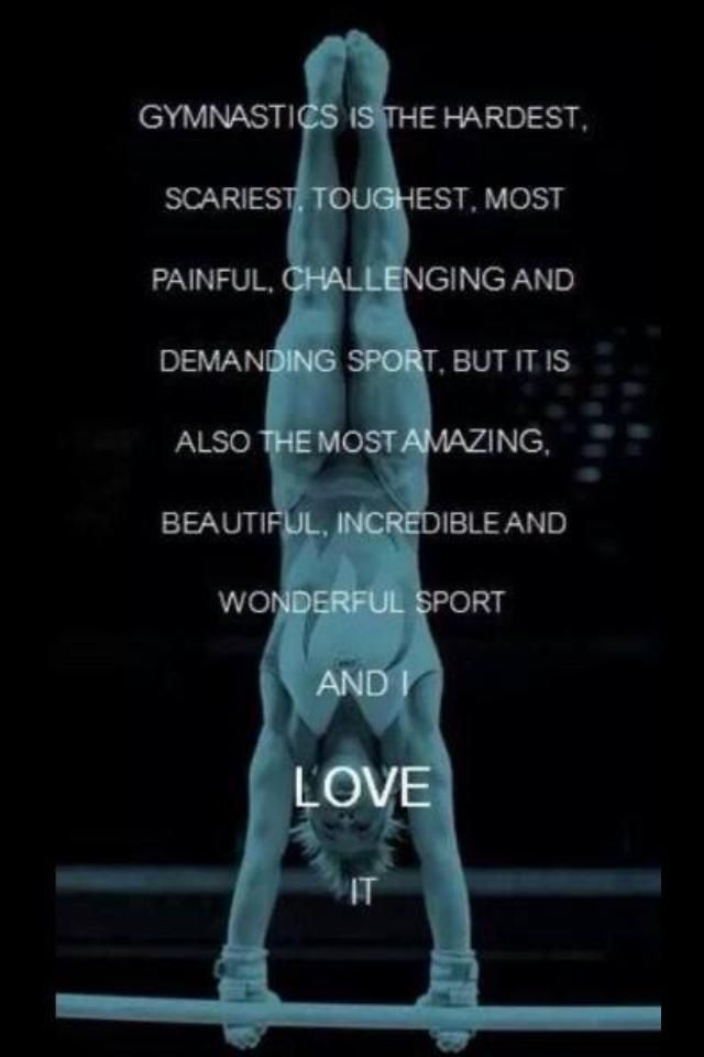 Gymnastics quote | Gymnastics | Pinterest