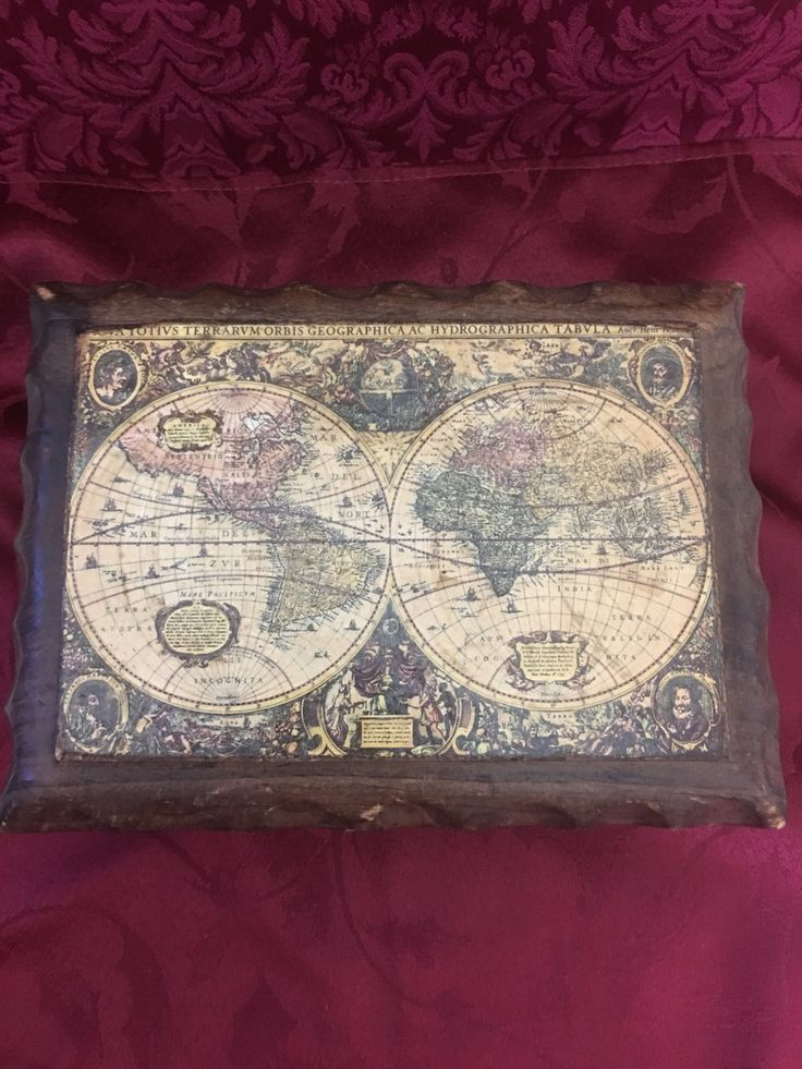 56 best boxes images on pinterest box boxes and boxing spanish wood old world map hand crafted medieval trinketjewelry box gothic rustic treasure chest gumiabroncs Image collections