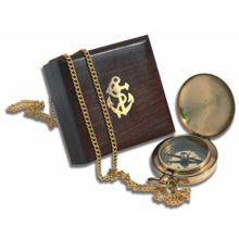 Fob Compass in Wooden Box