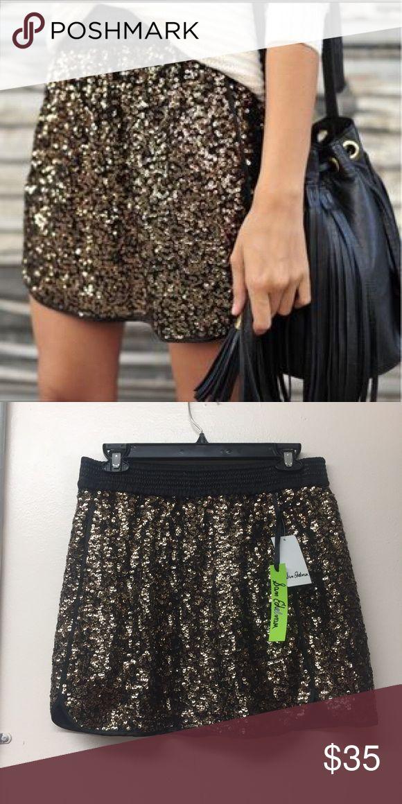 Sam Edelman Glitter Shorts New Sam Edelman Gold glitter shorts Sam Edelman Shorts