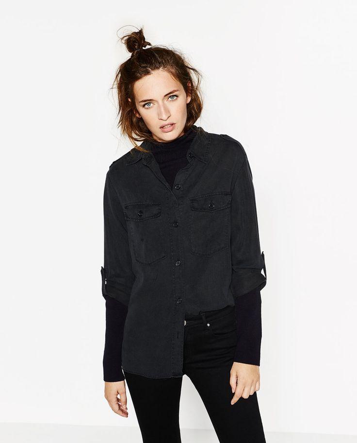 Image 4 of MILITARY SHIRT from Zara