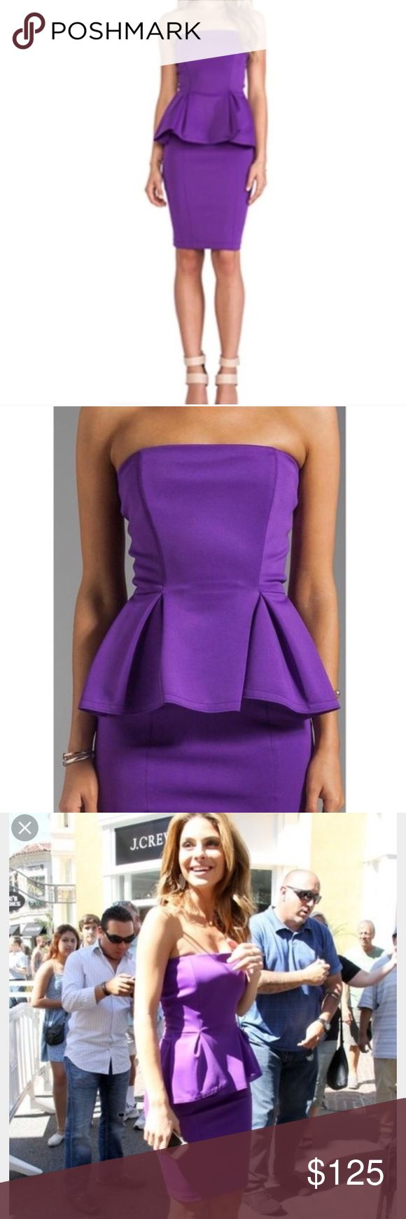 Torn by Ronny Kobo Peplum Scuba Dress- NWT, Med Super sexy color. The dress hugs all the right curves. Perfect date night dress or weekend with the girls this spring/summer. Back is full zip. Torn by Ronny Kobo Dresses Strapless