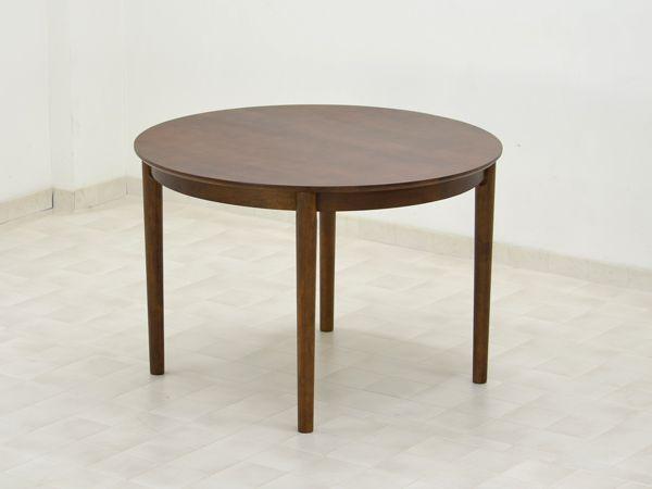 丸テーブル ダイニング 木製 無垢 北欧 幅 105cm g4d-360 ミドルブラウン色 丸型 ダイニングテーブル 円形 円 丸 テーブル 円卓 送料無料【楽天市場】