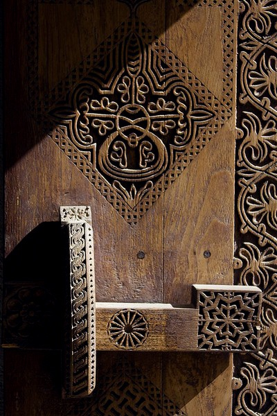 Beautiful Javanese carved wood door || Indonesia.