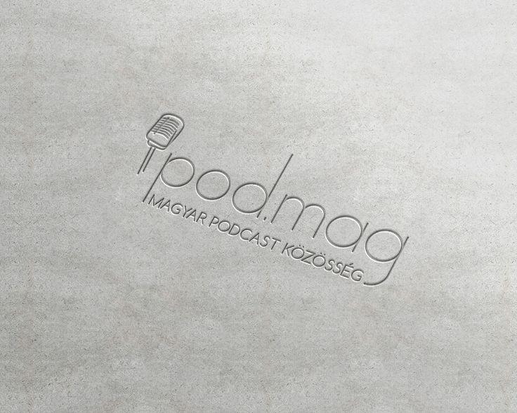 Logó koncepció egy podcastokkal foglalkozó magazin és gyűjtő oldalhoz. #logo #logodesign