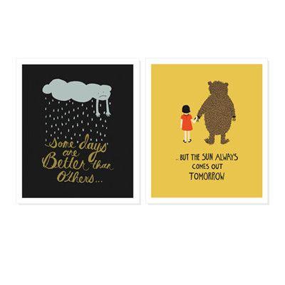 Rifle Paper Co Print - Set of 2: Better Days Print   Pony Lane
