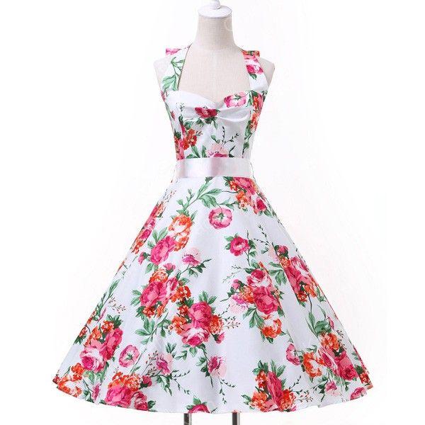 Одри хепберн стиль старинные платья летом Большой размер свободного покроя ну вечеринку халат рокабилли Vestidos цветочный 50 s большие качели ретро платьекупить в магазине Angel ShadowнаAliExpress
