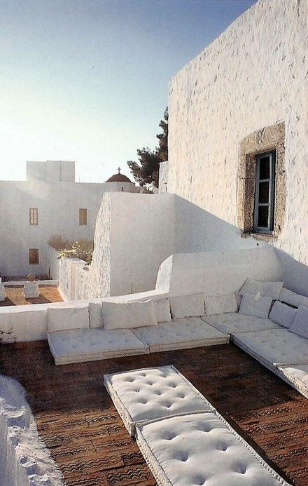 | P | Grazia Gazzoni's home in Patmos, Greece via World of Interiors.co.uk